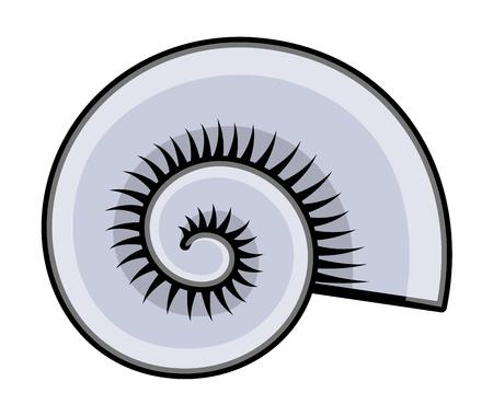 Conch Seashell - Cartoon Vector Illustration