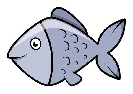 hunter playful: Fish - Cartoon Vector Illustration