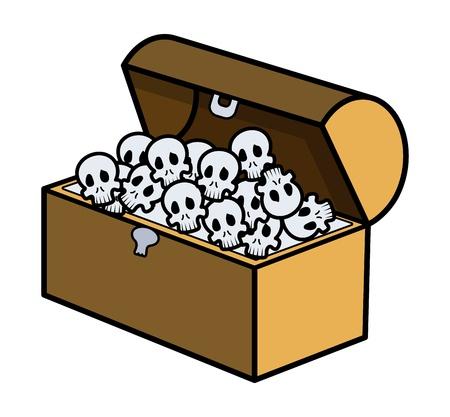 Skull Full of Trunk - Cartoon Vector Illustration Vector