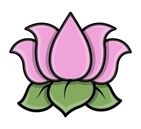 blumen cartoon: Lotus Flower - Cartoon Vektor-Illustration