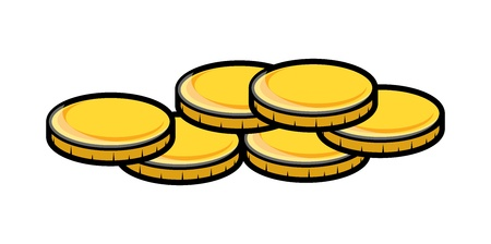 cartoon gold coins clipart vector illustration royalty free rh 123rf com coin cliparts for children to color chips clipart
