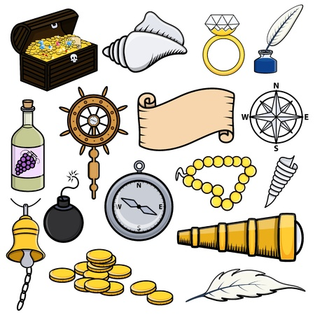 Pirates Icons Stock Vector - 21506434