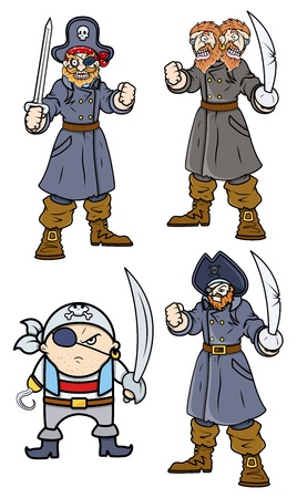 Pirate Captain Black - Cartoon Vector Illustration Stock Vector - 21506417