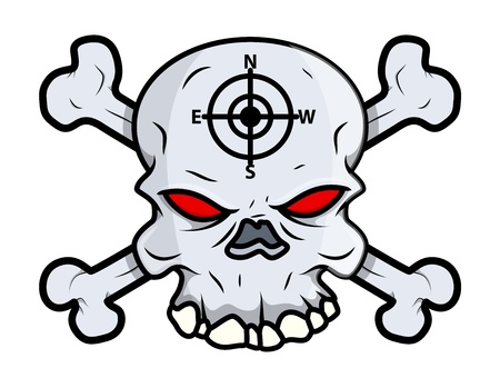 Creepy Skull Vector Vector