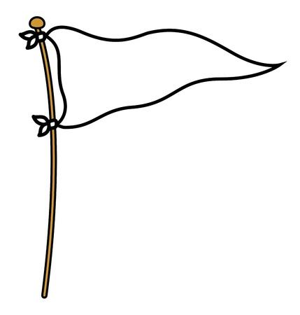 Peace Flag - Cartoon Vector Illustration