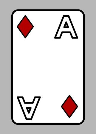 Diamond Ace - Cartoon Vector Illustration Illustration