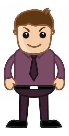 dishonest: Dishonest Idea - Office Corporate Cartoon People Illustration
