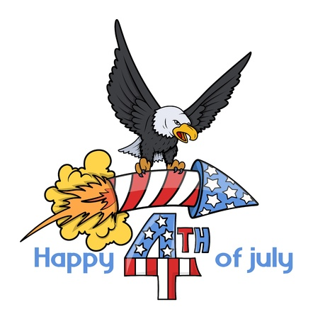 i want you: 4th of July cartoon Decorative Text