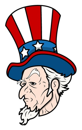 Uncle Sam - Classic Face Vector Vector