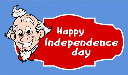 sam: Happy Independence Day Uncle Sam Banner