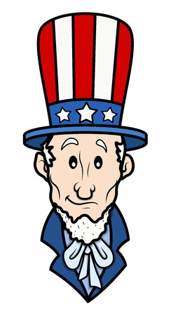 Classic Uncle Sam - 4th of July Vector Illustration Vector