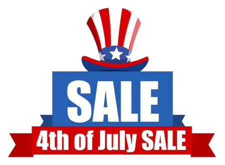 uncle sam hat: 4th of July Sale banner