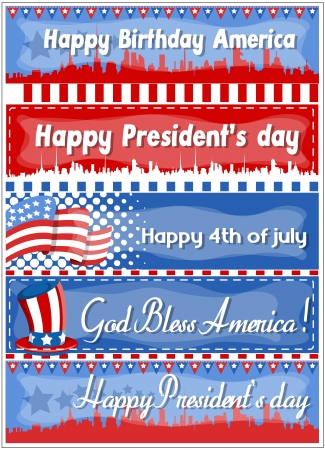4th of july web banners - vector