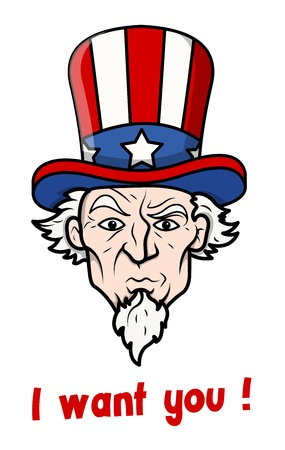 i want you: I want you - 4th of July Vector Illustration