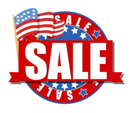 4th of july sale Stock Vector - 21959176