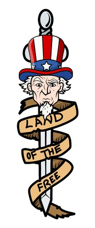 uncle sam: Land of the Free - Uncle Sam Vector Illustration