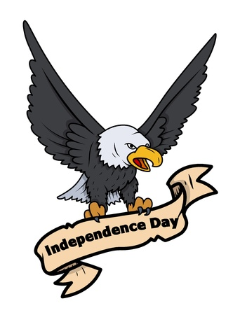 Independence Day Eagle - Banner Vector