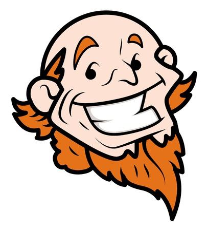 uncle sam: Cartoon Uncle Sam Face vector illustration
