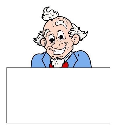 uncle sam: Uncle sam holding a blank banner vector