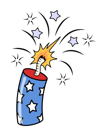 4th of july fireworks - Exploding Firecrackers Vector Illustration