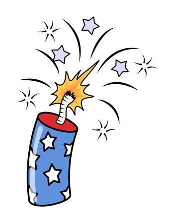 4 juli vuurwerk - Exploding Voetzoekers Vector