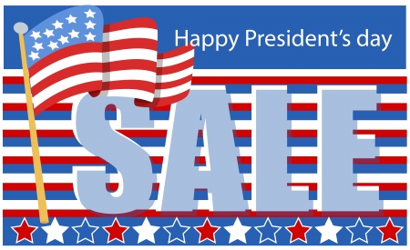 president day sale Stock Vector - 21959248