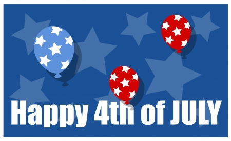 happy 4th of july background Stock Vector - 21959253