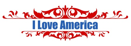i love america Stock Vector - 21959256