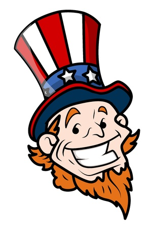 governor: Happy Uncle Sam Cartoon Face