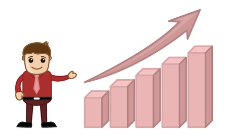 growing up: Stats Bar Growing Up Cartoon Business Character