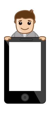 Mobile Phone Tablet Device Blank - Business Cartoon Vector