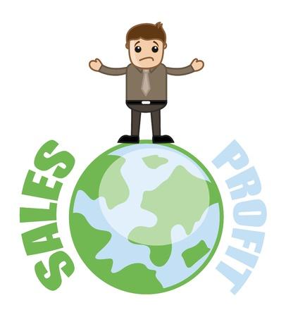 Sale But No Profit Concept - Business Cartoon Stock Vector - 21989487