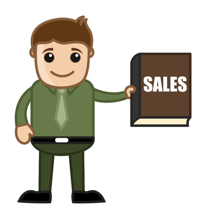 Sales Book - Business Cartoon Stock Vector - 21989507