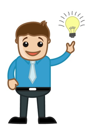 Idea Came in Mind - Business Cartoon Vector