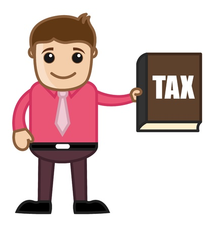 Know Your Tax Concept - Business Cartoon Stock Vector - 21989554