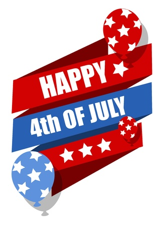 Happy 4th of july celebration banner Stock Vector - 22000148