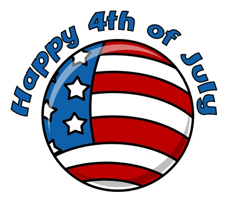 Happy 4th of July Icon - US Flag Stock Vector - 22000164