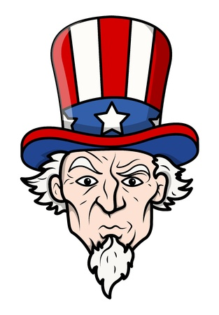 Uncle sam - vector illustration Stok Fotoğraf - 22000178