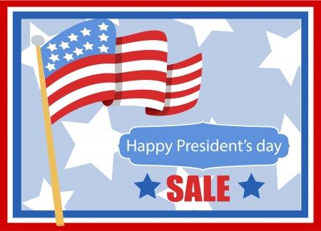 president???s: felice il presidente s day vettoriale banner illustrazione