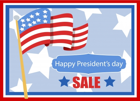 happy President s day vector banner illustration Stock Vector - 22000204