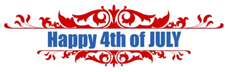 4th of july Vector Greeting Text Stock Vector - 22000202