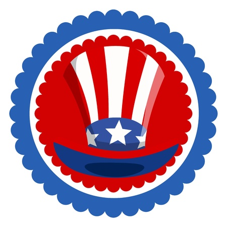 Uncle Sam Hat - 4th of july Vector