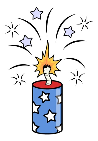 sparking: 4th of july crackers sparking vector