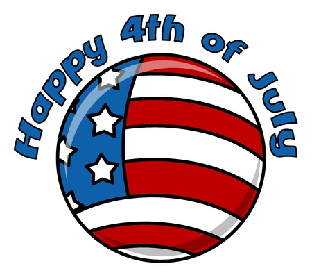 happy 4th of july circular icon Stock Vector - 22000212