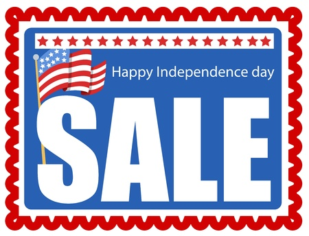 sale stamp - 4th of july Vector Stock Vector - 22000301