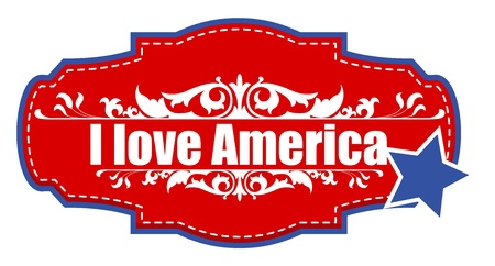 I love america - vector Stock Vector - 22000302