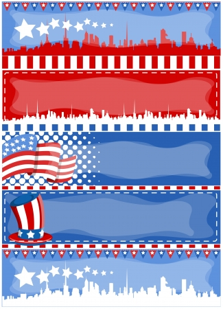 i want you: vector banners for patriotic theme and 4th of july