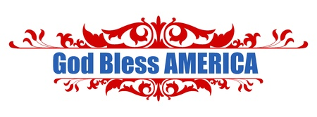 God Bless America - 4th of july Vector
