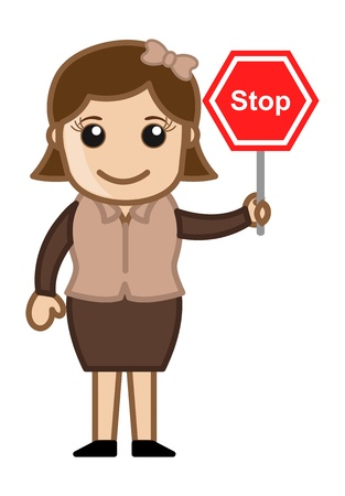 Stop - Cartoon Business Vector Illustrations Vector