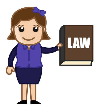 tax attorney: Law Book - Cartoon Business Vector Illustrations